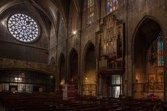 Iglesia de Santa Maria del Pi Barcelona (España) Foto de archivo libre de regalías
