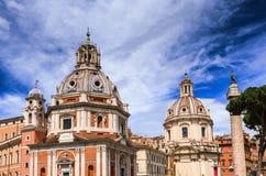 Iglesia de Santa Maria di Loreta en Roma Fotografía de archivo libre de regalías