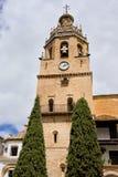 Iglesia de Santa Maria la Mayor en Ronda imagenes de archivo