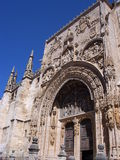 Iglesia de Santa Maria la Real, Aranda de Duero ( Burgos ). Facade of Santa María la Real Church,built by Simon de Colonia during the 15th and 16th centuries Royalty Free Stock Photos