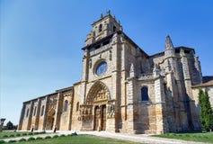 Iglesia de Santa Maria la Real, Sasamon, España Fotografía de archivo libre de regalías