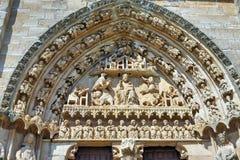 Iglesia de Santa Maria la Real, Sasamon, Spain Stock Image