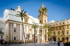 Iglesia de Santiago, Cadiz Arkivfoto