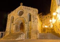 Iglesia de Santiago de Coimbra, Portugal Imagenes de archivo