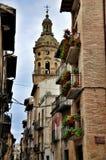 Iglesia de Santiago y San Pedro, Reina del la de Puente, Navarra Imagen de archivo libre de regalías