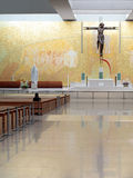 Iglesia de Santissima Trindade en F?tima Imágenes de archivo libres de regalías