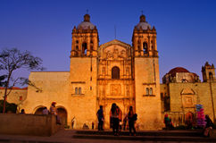 Iglesia de Santo Domingo de guzman Oaxaca, México imágenes de archivo libres de regalías