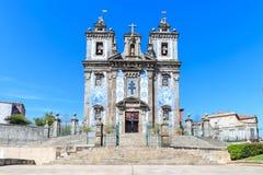 Iglesia de Santo Ildefonso en Oporto Imágenes de archivo libres de regalías