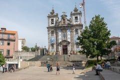 Iglesia de Santo Ildefonso, Oporto foto de archivo
