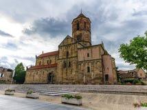 Iglesia de Santo-Pierre-y-Paul, Rosheim, Alsacia, Francia Imagen de archivo libre de regalías
