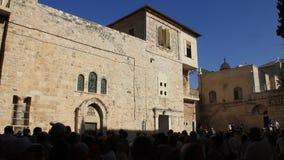 Iglesia de Santo Sepulcro en Jerusalén, Israel almacen de metraje de vídeo