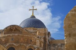 Iglesia de Santo Sepulcro Jerusalén Foto de archivo