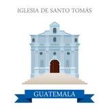 Iglesia de Santo Tomás in Guatemala flat web vect Stock Image