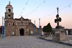 Iglesia de santo tomas ajusco. Catholic church in santo tomas ajusco town y mexico city Royalty Free Stock Images
