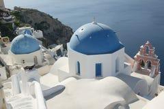 Iglesia de Santorini Foto de archivo libre de regalías