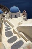 Iglesia de Santorini imagenes de archivo