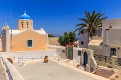 Iglesia de Santorini en Oia Fotografía de archivo libre de regalías