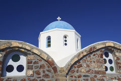 Iglesia de Santorini, Grecia Imágenes de archivo libres de regalías