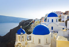 Iglesia de Santorini (Oia), Grecia Imagen de archivo libre de regalías