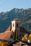 Iglesia de Scena/de Schenna fotografía de archivo