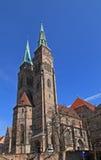 Iglesia de Sebaldus Nuremberg Imágenes de archivo libres de regalías