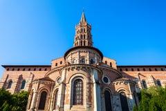 Iglesia de Sernin del santo de la basílica, Toulouse fotografía de archivo libre de regalías