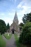 Iglesia de Shere, Surrey fotografía de archivo