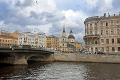Iglesia de Simeon santo y de Ana, St Petersburg Fotografía de archivo libre de regalías