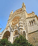 Iglesia de Soller, Majorca Imágenes de archivo libres de regalías