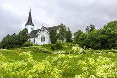 Iglesia de Sortland en Sortland en el condado de Nordland, Noruega Foto de archivo