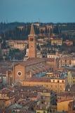 Iglesia de St. Anastasia en la puesta del sol Imagen de archivo