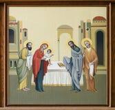 Iglesia de St Anne - presentación de Jesús en el templo stock de ilustración