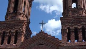 Iglesia de St Barbara almacen de metraje de vídeo