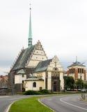 Iglesia de St. Bartholomew - Pardubice Foto de archivo libre de regalías