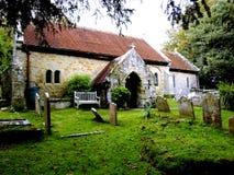 1070 iglesia de St Boniface del ANUNCIO, Bonchurch. Fotografía de archivo