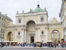 Iglesia de St Catherine, St Petersburg Imagenes de archivo