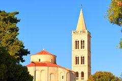 Iglesia de St Donatus en Zadar, Croacia fotografía de archivo libre de regalías