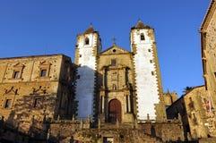 Iglesia de St Francis, Caceres, Extremadura, España Fotos de archivo