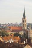 Iglesia de St Francis en Zagreb Imágenes de archivo libres de regalías