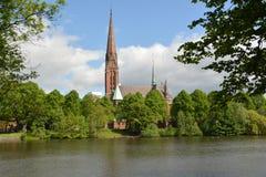 Iglesia de St Gertrudis en Hamburgo fotos de archivo