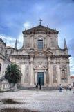 Iglesia de St Ignatius en Dubrovnik Imagen de archivo libre de regalías