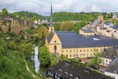 Iglesia de St Jean du Grund en Luxemburgo Imagen de archivo