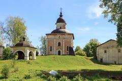 Iglesia de St John el Bautista del monasterio de Kirillo-Belozersky Imagenes de archivo