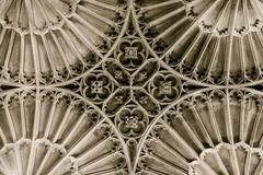 Iglesia de St John el techo de Baptist St Catherine Chapel Vault foto de archivo
