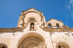 Iglesia de St Juan Matera Basilicata Italia Imágenes de archivo libres de regalías