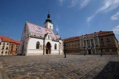 Iglesia de St Mark en Zagreb foto de archivo