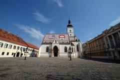 Iglesia de St Mark en Zagreb fotos de archivo
