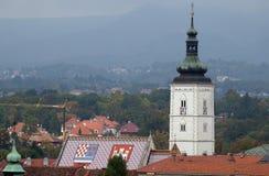 Iglesia de St Mark en Zagreb Imagenes de archivo