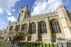 Iglesia de St Mary el grande en Cambridge Fotografía de archivo libre de regalías