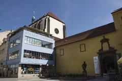 Iglesia de St Mary de la nieve en Wenceslas Square Vaclavske Namesti Fotografía de archivo